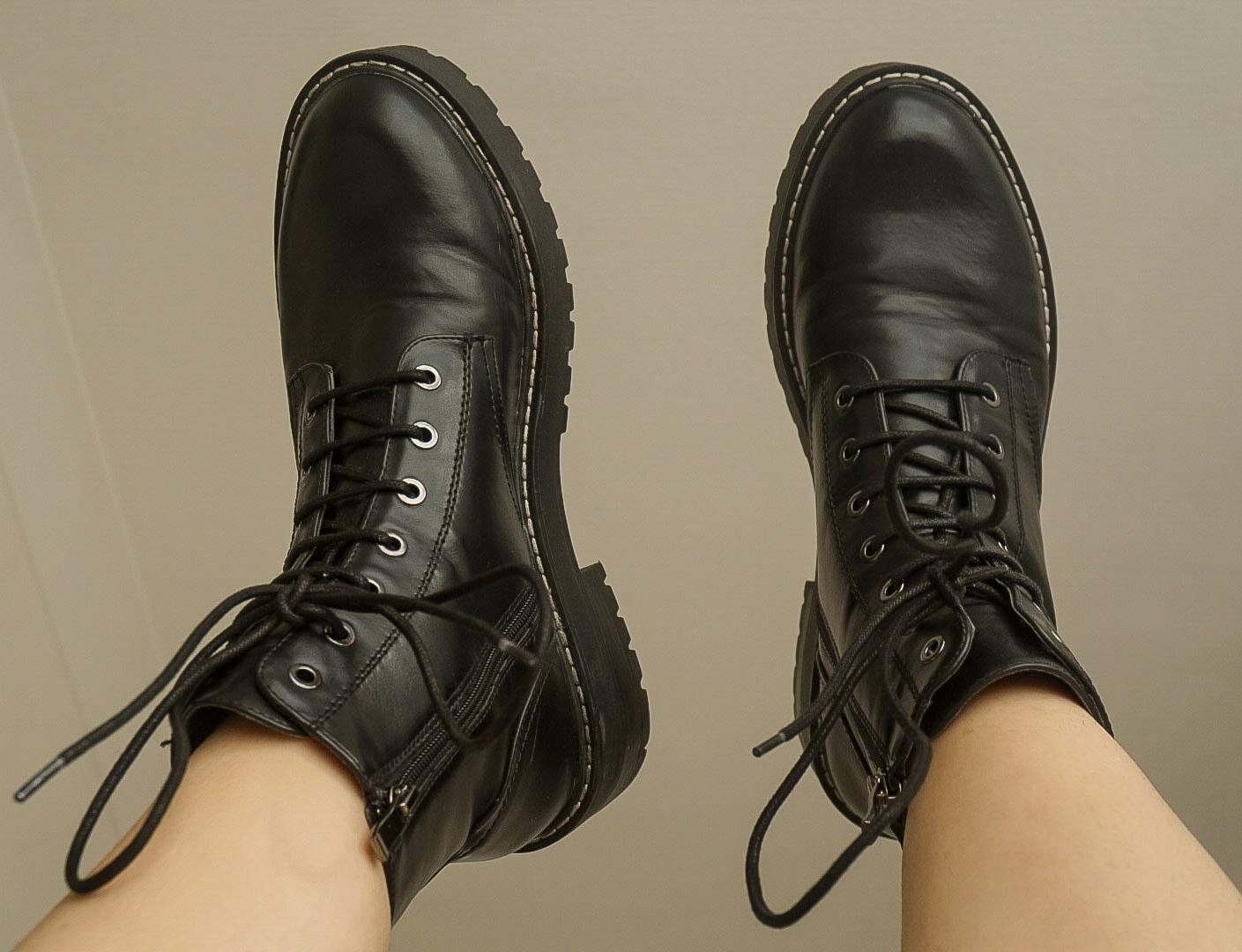 Stradivarius Black Chunky Boots