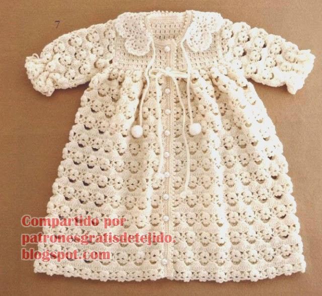 Abrigo primoroso para niña | Crochet y Dos agujas - Patrones de tejido