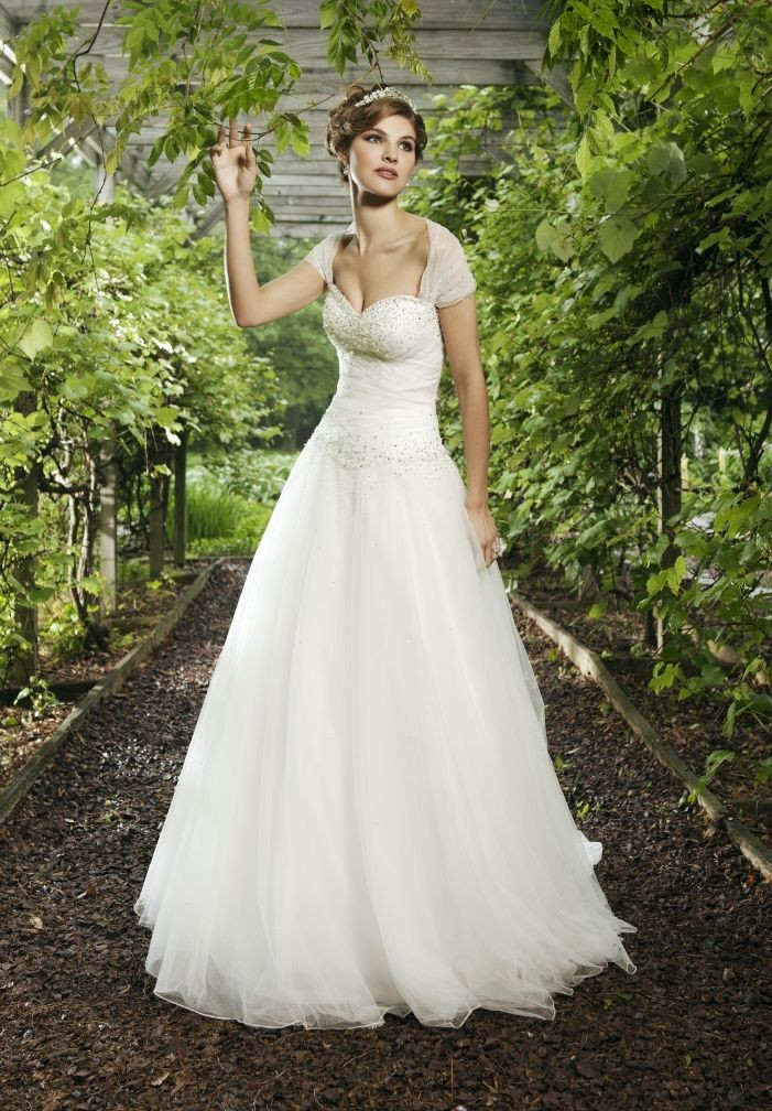 Cap Sleeves Wedding Dress
