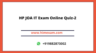 HP JOA IT Exam Online Quiz-2