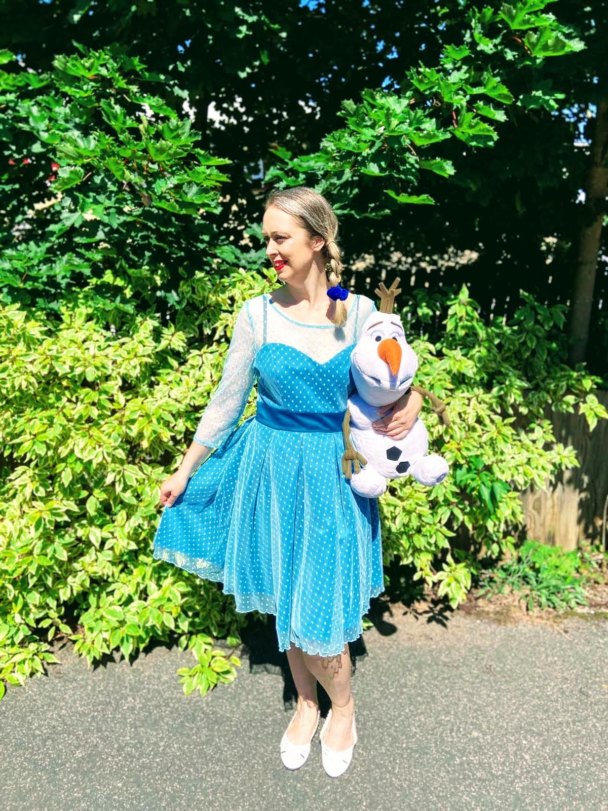 Pale blue dress like Elsa