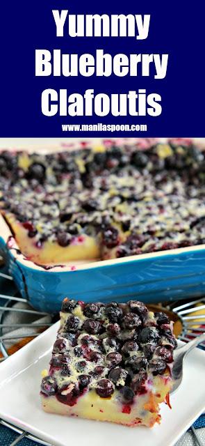 Yummy Blueberry Clafoutis