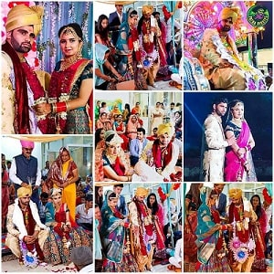 Pardeep-narwal-marriage-photos-with-wife-Swati-Beniwal