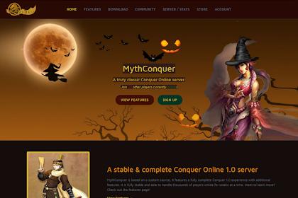 حصرياً : صفحة تسجيل ميث كونكر كلاسيك - Myth Conquer Classic website