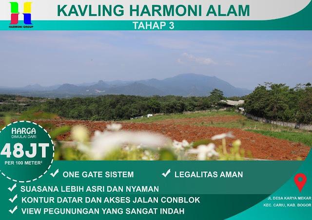 Kavling Harmoni Alam Tanjungsari Bogor Jawa Barat