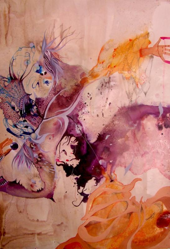 Наивные рисунки акварелью. Estela Cuadro 11