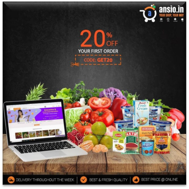 Ansio - Online Grocery Shopping in Chennai
