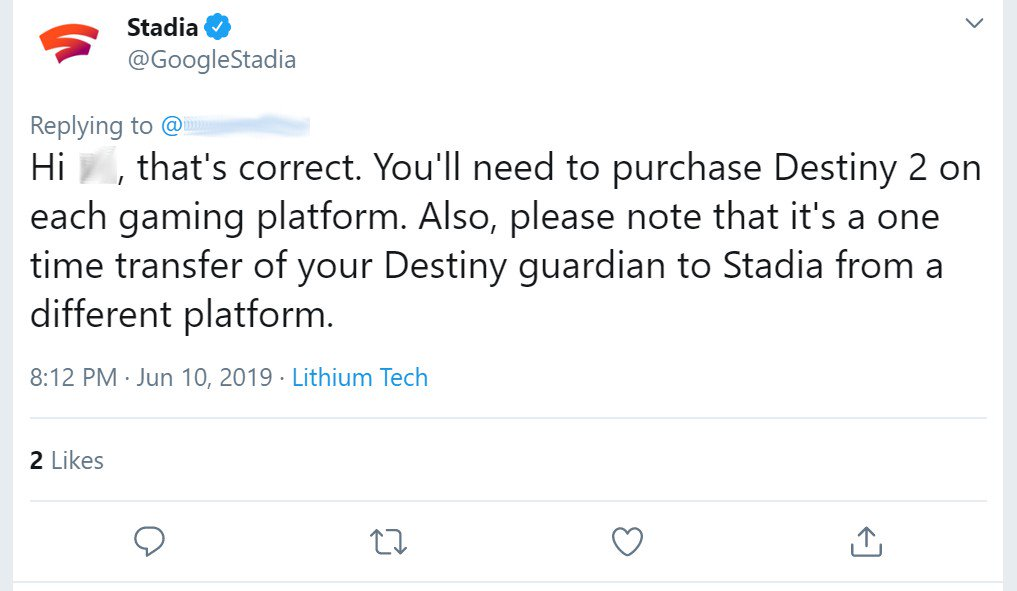 google stadia destiny 2 one-time transfer