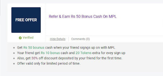 mpl tokens Reffer and Earn