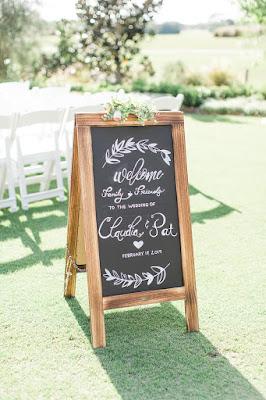 wedding welcome chalkboard sign