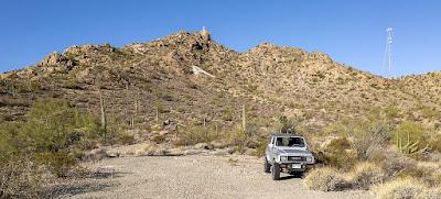 A Steep Hike/Climb to the cross atop Camelback Mountain, near Ajo, AZ