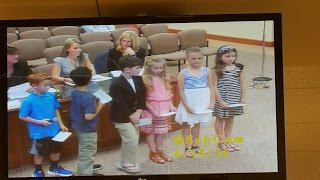 Keller 2nd grade students ready to model their morning meeting for the School Committee