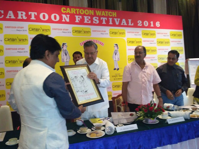 Dr Raman Singh, Chief Minister, Chhattisgarh launching the 100th Prince cartoon