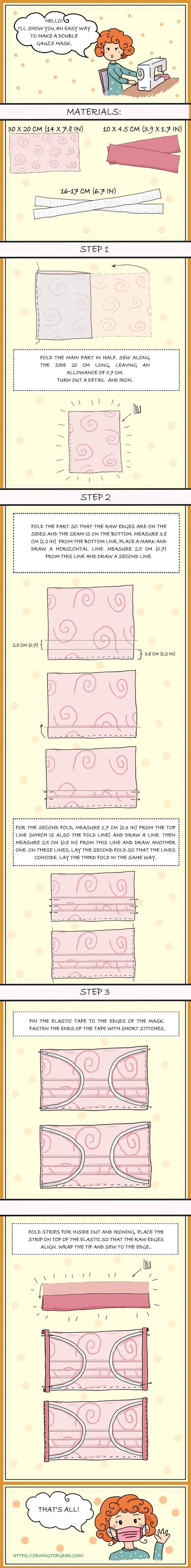 How to Sew a Face Mask at Home #infographic