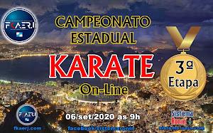 Campeonato Estadual de Karate On-Line - 3ª Etapa