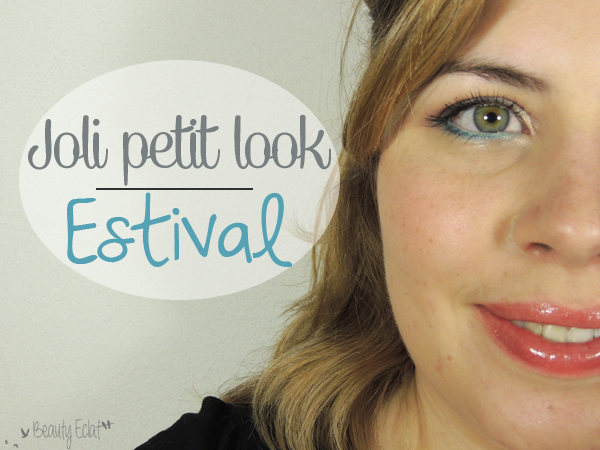 tutoriel maquillage estival neutre bleu