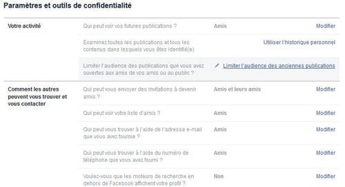 -تحقق من إعدادات الخصوصية والتطبيقات المسموح بها على فيسبوك