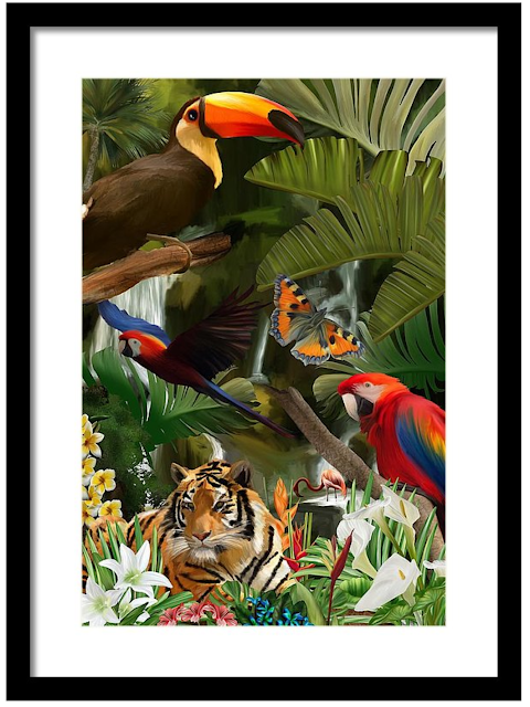 Wild, wildlife art, Mark Taylor, Jungle art, Fine Art America,