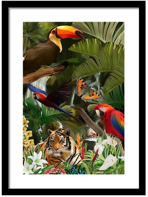 Wild, wildlife art, Mark Taylor, Jungle art, Fine Art America,