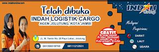 indah logistik cargo, logo indah cargo, contoh banner kirim paket, kirim paket murah, pindahan rumah jambi, sewa truk jambi