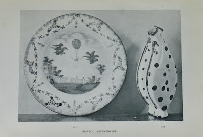 University College of North Wales, Bangor. The Owen Pritchard Collection of Pottery, Glass and Books (1921): illustration of Bristol earthenware