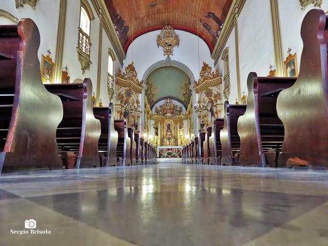 Vista do interior do Convento e Santuário São Francisco - Sé - São Paulo