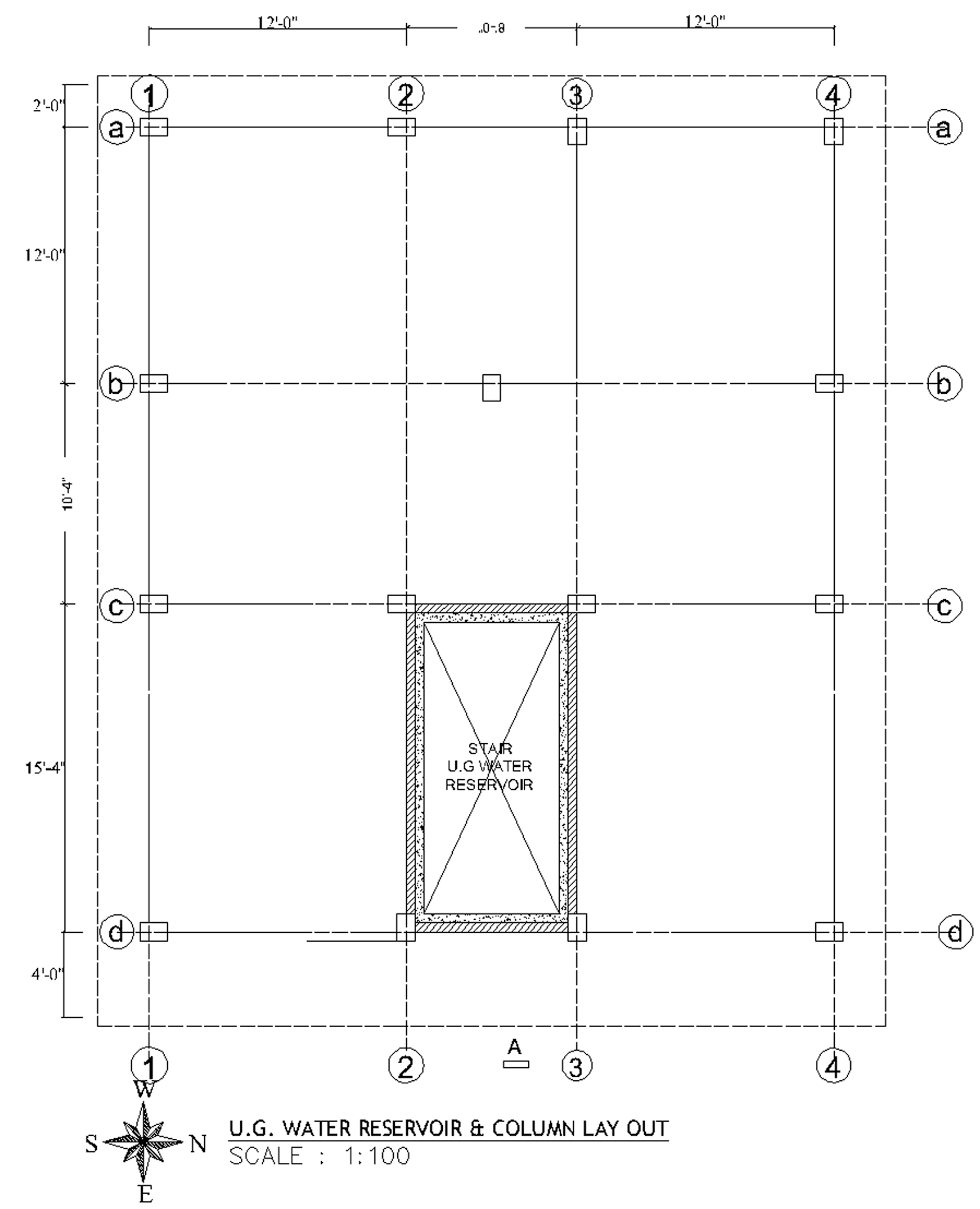 5 Story Apartment Building Column Layout