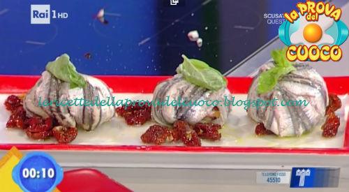 Tortino di alici con concassè di pomodori secchi ricetta Latagliata da Prova del Cuoco