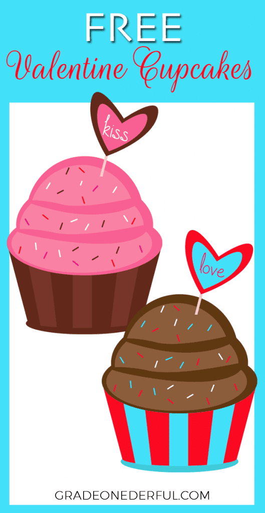 Valentine Cupcake Clipart by Grade ONEderful