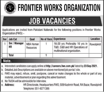 JOBS | Frontier Works Organization