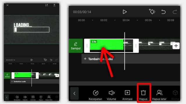 Cara Bagian Memotong Awal Video di Capcut