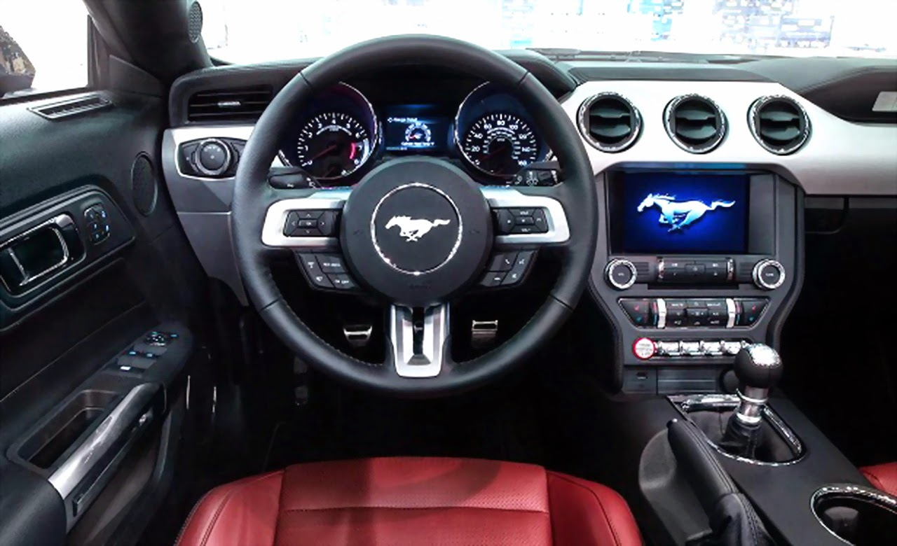2016 ford mustang gt500 interior spy photo other bits are visible with high back racing style seats with fixed head restraints a game ball shift knob