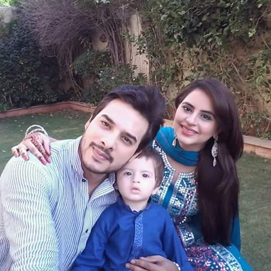 Kanwar Arsalan with his wife Fatima Effendi and son Almir