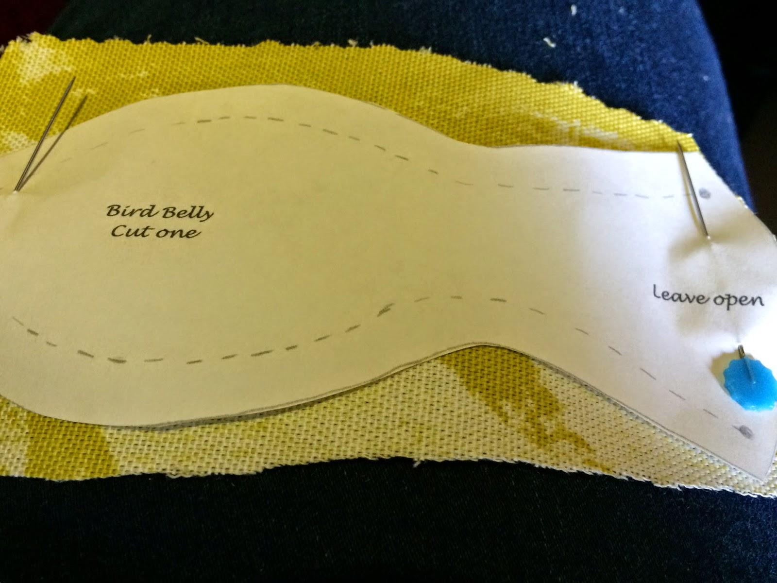 bird fabric cut out
