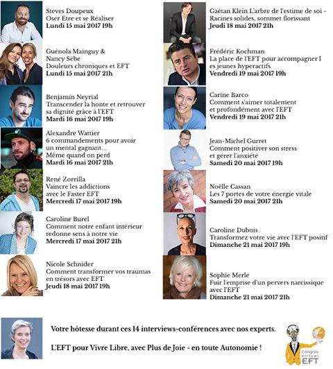 Congrès Virtuel d'EFT 2017