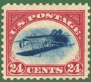 valuable usa stamp 1918 inverted jenny