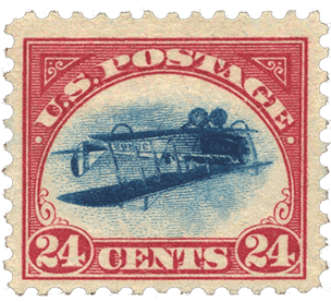 valuable usa stamp 1918 inverted jenny