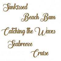 Creative Embellishments Beach Words Set3