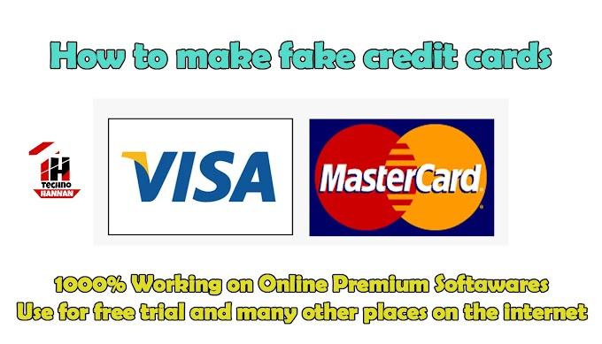 How to make fake credit card 2020