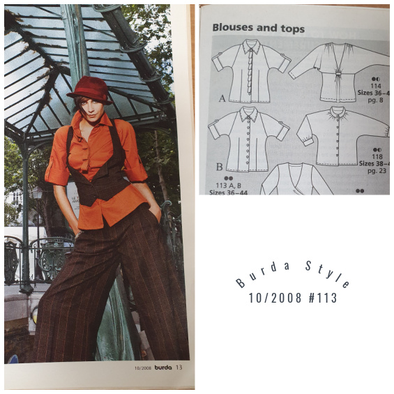 Burda sewing pattern