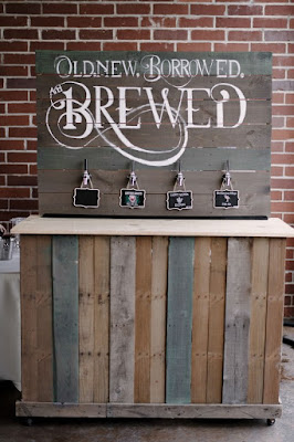 old new borrowed brewed sign