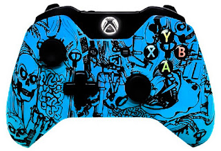 6000 Mode Xbox One Modded Controller Blue Skulls