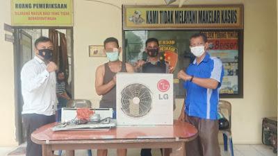 Polsek Tebingtinggi Tangkap Warga Paya Pasir Pencuri Blower AC