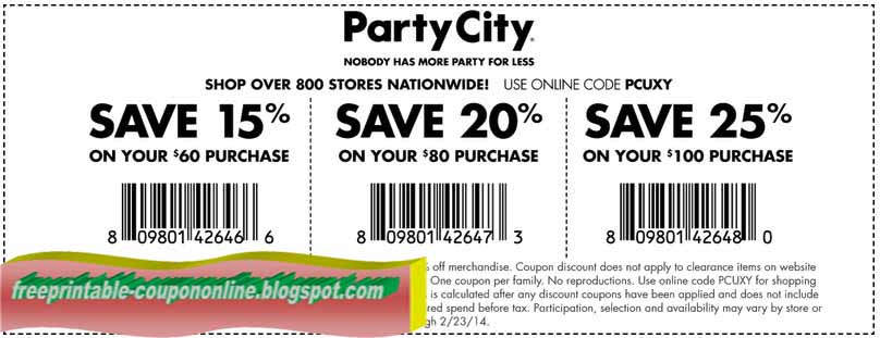 Party city discount coupons 2019