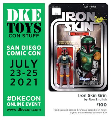 San Diego Comic-Con 2021 Exclusive Iron Skin Grin Resin Figure by Ron English x DKE Toys