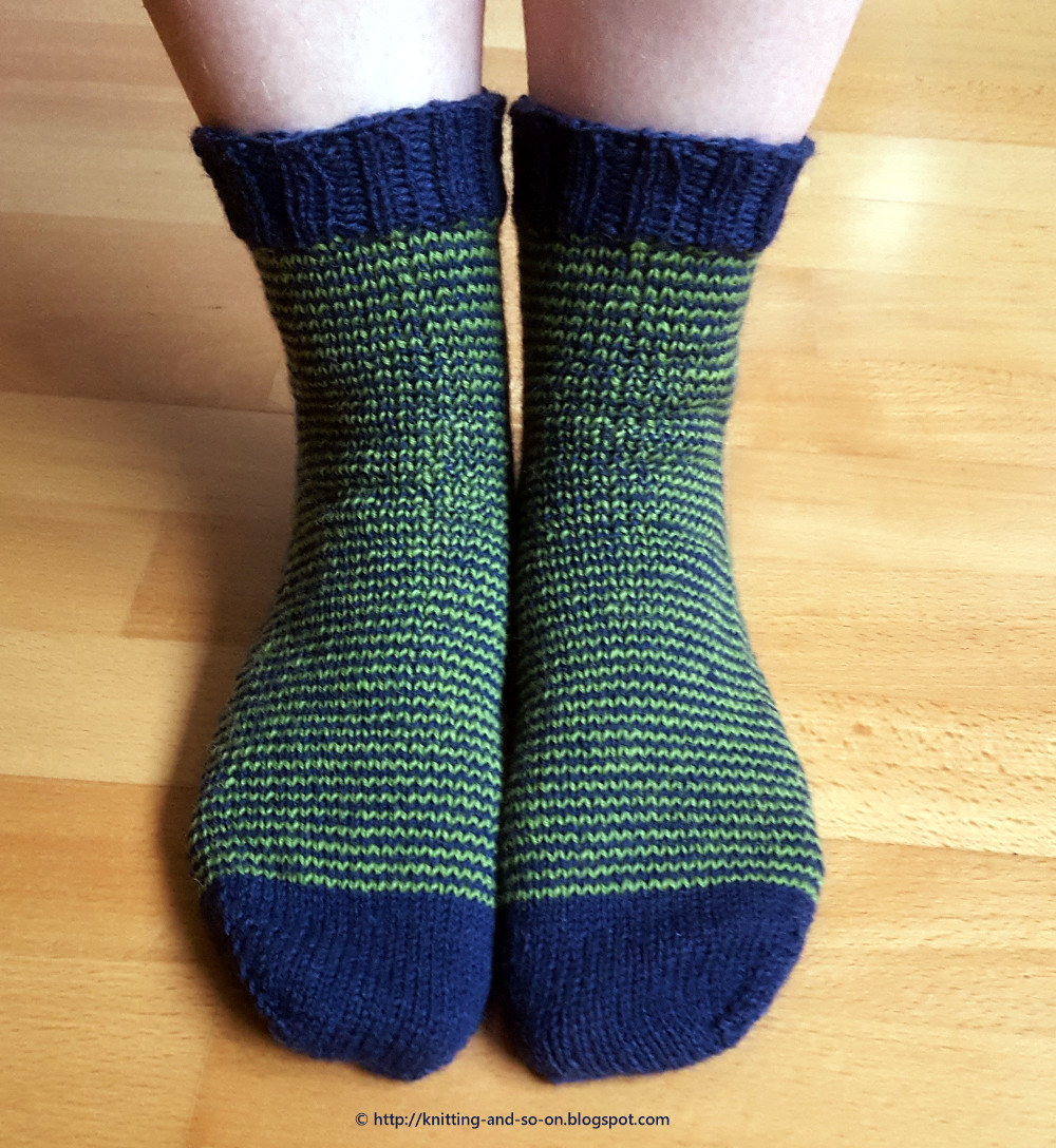 Knitting Socks : Knitting and so on an idea for knitted socks