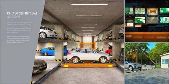 Tầng hầm để xe hiện đại