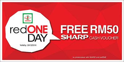Senheng redONE Promo FREE RM50 SHARP eVoucher