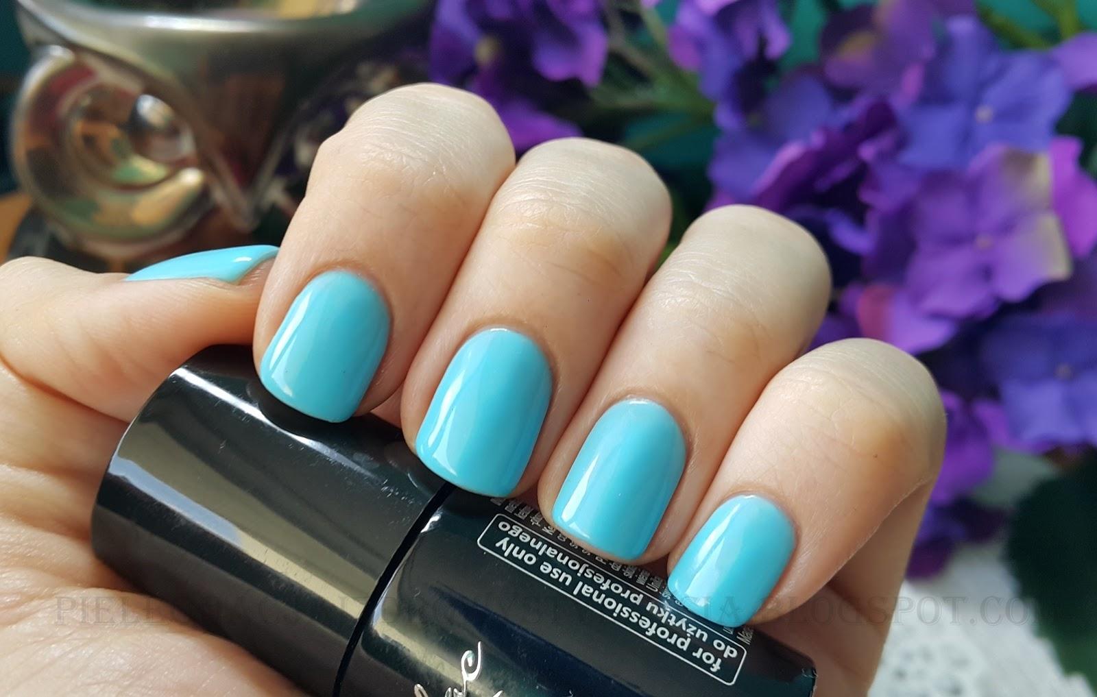 SEMILAC INTENSE BLUE 044 swatche na paznokciach, opinie, blog
