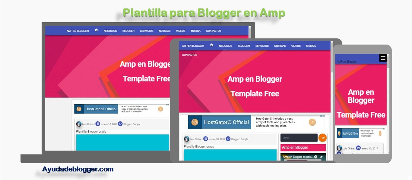 Plantilla para Blogger en Amp | Ayuda de Blogger